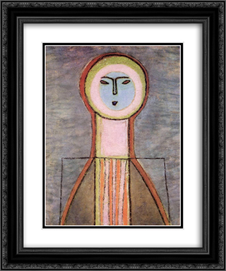Girl Icon 20x24 Black or Gold Ornate Framed and Double Matted Art Print by Vajda Lajos