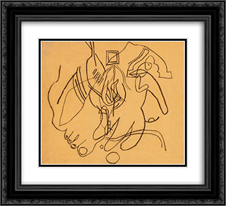 Leg and Hand 22x20 Black or Gold Ornate Framed and Double Matted Art Print by Vajda Lajos