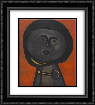 Melon Head 20x22 Black or Gold Ornate Framed and Double Matted Art Print by Vajda Lajos