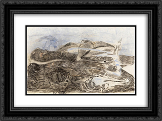 Moulding Powers on the Horizon 24x18 Black or Gold Ornate Framed and Double Matted Art Print by Vajda Lajos