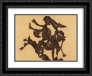 Rider 24x20 Black or Gold Ornate Framed and Double Matted Art Print by Vajda Lajos