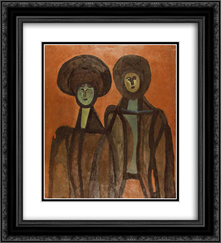 Sisters 20x22 Black or Gold Ornate Framed and Double Matted Art Print by Vajda Lajos