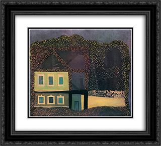 Spotty House 22x20 Black or Gold Ornate Framed and Double Matted Art Print by Vajda Lajos