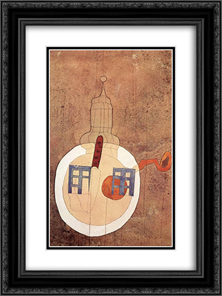 Tower with Still-life on a Plate 18x24 Black or Gold Ornate Framed and Double Matted Art Print by Vajda Lajos