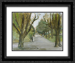 Belvoir - Park in Zurich 24x20 Black or Gold Ornate Framed and Double Matted Art Print by Varlin