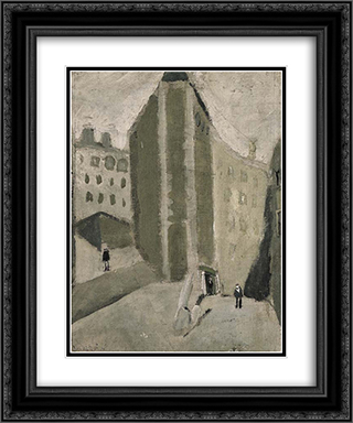 Das graue Haus 20x24 Black or Gold Ornate Framed and Double Matted Art Print by Varlin