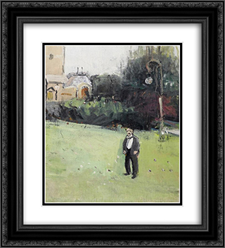 Man in the Tonhallengarten in Zurich 20x22 Black or Gold Ornate Framed and Double Matted Art Print by Varlin