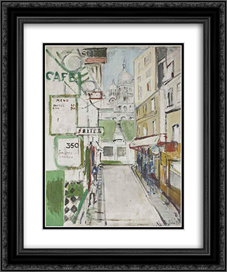Rue de Steinkerque in Paris 20x24 Black or Gold Ornate Framed and Double Matted Art Print by Varlin