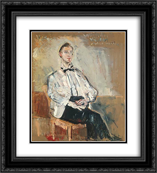 William, an English waiter 20x22 Black or Gold Ornate Framed and Double Matted Art Print by Varlin