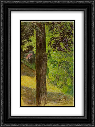 A Path in a Garden 18x24 Black or Gold Ornate Framed and Double Matted Art Print by Victor Borisov Musatov