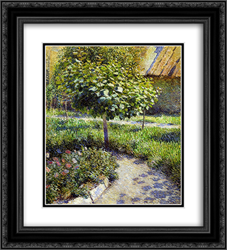 A Tree 20x22 Black or Gold Ornate Framed and Double Matted Art Print by Victor Borisov Musatov