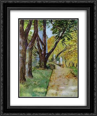 A Walk in the Park 20x24 Black or Gold Ornate Framed and Double Matted Art Print by Victor Borisov Musatov