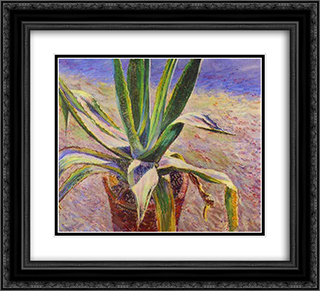 Agave 22x20 Black or Gold Ornate Framed and Double Matted Art Print by Victor Borisov Musatov