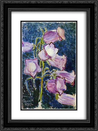 Bluebells 18x24 Black or Gold Ornate Framed and Double Matted Art Print by Victor Borisov Musatov