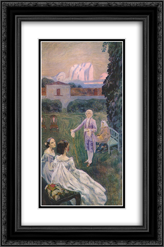 Harmony 16x24 Black or Gold Ornate Framed and Double Matted Art Print by Victor Borisov Musatov