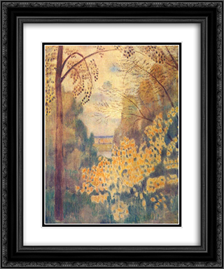Hazel Bush 20x24 Black or Gold Ornate Framed and Double Matted Art Print by Victor Borisov Musatov