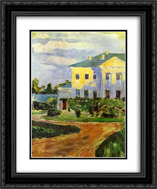 Manor House at Zubrilovka 20x24 Black or Gold Ornate Framed and Double Matted Art Print by Victor Borisov Musatov