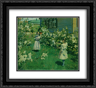 May Flowers 22x20 Black or Gold Ornate Framed and Double Matted Art Print by Victor Borisov Musatov