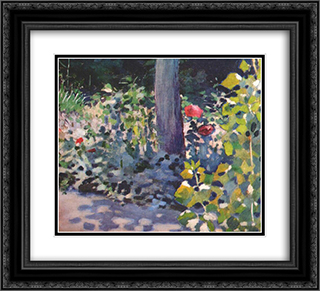Poppies in the Garden 22x20 Black or Gold Ornate Framed and Double Matted Art Print by Victor Borisov Musatov