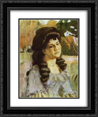 Portrait of a Lady 20x24 Black or Gold Ornate Framed and Double Matted Art Print by Victor Borisov Musatov