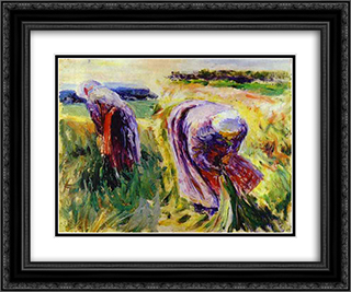 Reapers 24x20 Black or Gold Ornate Framed and Double Matted Art Print by Victor Borisov Musatov
