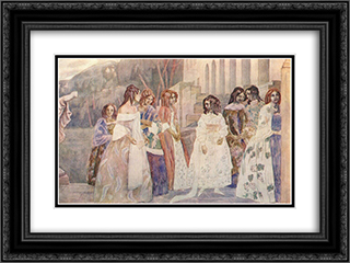 Requiem 24x18 Black or Gold Ornate Framed and Double Matted Art Print by Victor Borisov Musatov