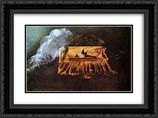 Calling Card 24x18 Black or Gold Ornate Framed and Double Matted Art Print by Victor Hugo