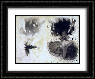 Composition with taches 24x20 Black or Gold Ornate Framed and Double Matted Art Print by Victor Hugo