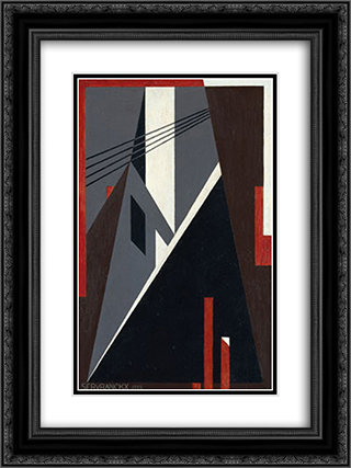 Opus 30 - 1922 (Factory) 18x24 Black or Gold Ornate Framed and Double Matted Art Print by Victor Servranckx