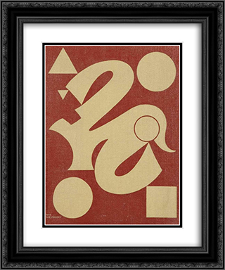 Opus 4 20x24 Black or Gold Ornate Framed and Double Matted Art Print by Victor Servranckx