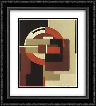 Red Rotation 20x22 Black or Gold Ornate Framed and Double Matted Art Print by Victor Servranckx