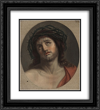 Ecce Homo 20x22 Black or Gold Ornate Framed and Double Matted Art Print by Vieira Portuense