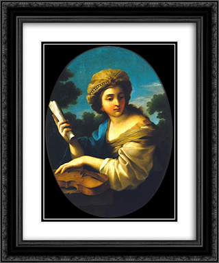 Music's allegory 20x24 Black or Gold Ornate Framed and Double Matted Art Print by Vieira Portuense