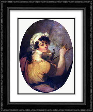 Portrait of a Woman (Painter) 20x24 Black or Gold Ornate Framed and Double Matted Art Print by Vieira Portuense