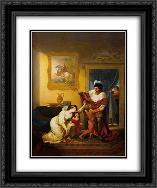 SÆ'oplica de Ines de Castro 20x24 Black or Gold Ornate Framed and Double Matted Art Print by Vieira Portuense