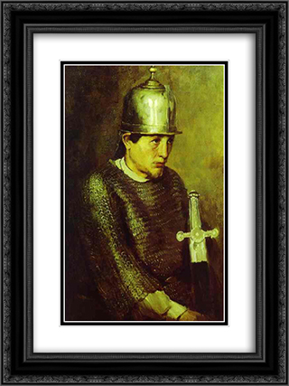 A knight 18x24 Black or Gold Ornate Framed and Double Matted Art Print by Viktor Vasnetsov