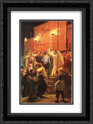 Acrobats (Festival in a Paris Suburb) 18x24 Black or Gold Ornate Framed and Double Matted Art Print by Viktor Vasnetsov