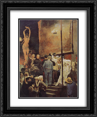 Acrobats (On a holiday near Paris) 20x24 Black or Gold Ornate Framed and Double Matted Art Print by Viktor Vasnetsov