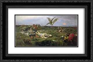 After Prince Igor`s Battle with the Polovtsy 24x16 Black or Gold Ornate Framed and Double Matted Art Print by Viktor Vasnetsov