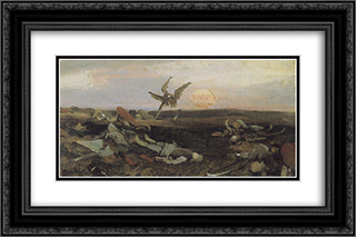 After the carnage Igor Svyatoslavich with Polovtsy (sketch) 24x16 Black or Gold Ornate Framed and Double Matted Art Print by Viktor Vasnetsov