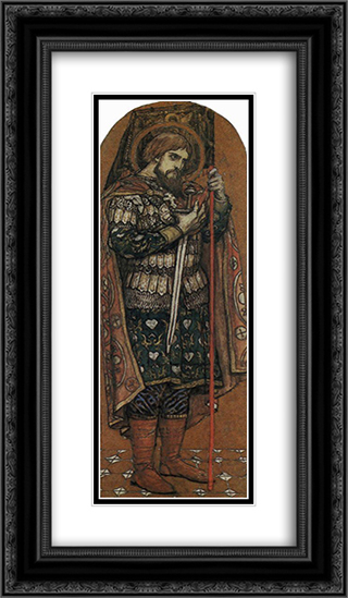 Alexander Nevsky 14x24 Black or Gold Ornate Framed and Double Matted Art Print by Viktor Vasnetsov