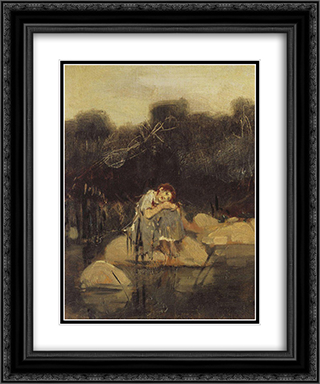 Alyonushka 20x24 Black or Gold Ornate Framed and Double Matted Art Print by Viktor Vasnetsov