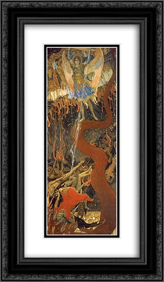 Archangel Michael 14x24 Black or Gold Ornate Framed and Double Matted Art Print by Viktor Vasnetsov