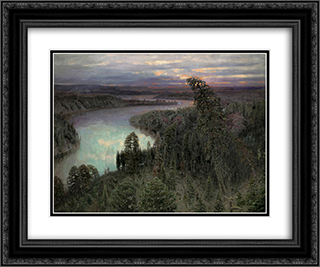 Bajarmaland 24x20 Black or Gold Ornate Framed and Double Matted Art Print by Viktor Vasnetsov