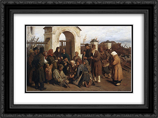 Beggars singer (Pilgrims) 24x18 Black or Gold Ornate Framed and Double Matted Art Print by Viktor Vasnetsov