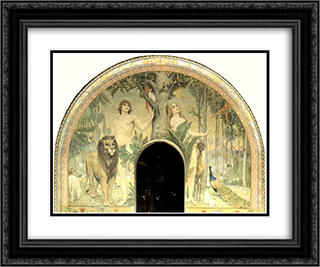 Bliss of paradise 24x20 Black or Gold Ornate Framed and Double Matted Art Print by Viktor Vasnetsov