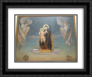 Bogomater 24x20 Black or Gold Ornate Framed and Double Matted Art Print by Viktor Vasnetsov