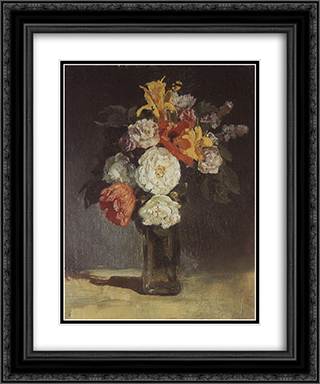 Bouquet. Abramtzevo 20x24 Black or Gold Ornate Framed and Double Matted Art Print by Viktor Vasnetsov