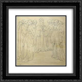 Cathedral 20x20 Black or Gold Ornate Framed and Double Matted Art Print by Viktor Vasnetsov