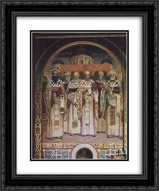 Cathedral of Saints of the Universal Church 20x24 Black or Gold Ornate Framed and Double Matted Art Print by Viktor Vasnetsov
